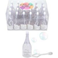 Großpack Kleine weiße Sektflasche Seifenblasen
