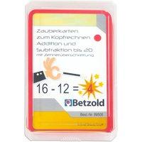 Betzold Zauberkarten zum Kopfrechnen - Addition und Subtraktion bis 20 mit Zehnerüberschreitung