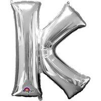 Folienballon Buchstabe K - Silber