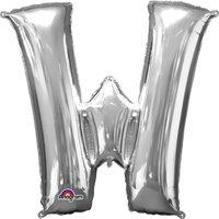 Folienballon Buchstabe W - Silber