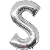 Folienballon Buchstabe S - Silber