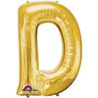 Folienballon Buchstabe D - Gold