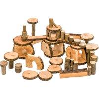 Magic Wood 144 Baumklötze in fahrbarer Kiste
