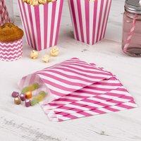 Süßigkeiten-Tüten mit pinken Streifen