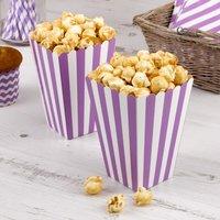 Tüten für Popcorn mit lila Streifen