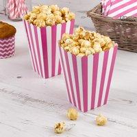 Tüten für Popcorn mit pinken Streifen