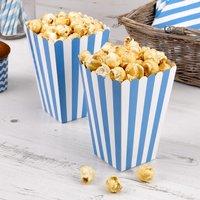 Tüten für Popcorn mit blauen Streifen