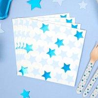Servietten Kleiner Stern in blau im 16er Pack