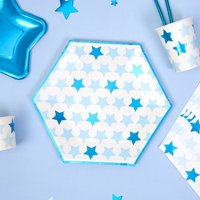 Partyteller Kleiner Stern in blau