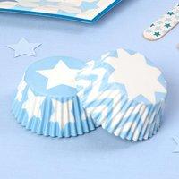 Muffinformen Kleiner Stern in blau