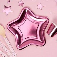 Sternförmige Teller in pink