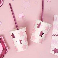 Partybecher Kleiner Sternin pink