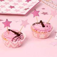 Muffinformen Kleiner Stern in rosa