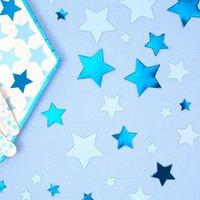 Kleiner Stern Konfetti in blau