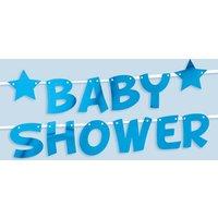 Baby Shower Buchstabenkette in blau