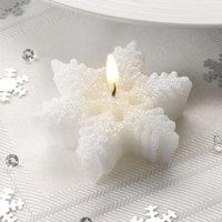 Glitzerkerzen Eiskristall im 3er Pack