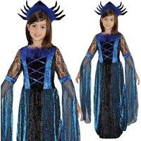 Midnight Princess 2-teiliges Kostüm mit bodenlangem Kleid und Haarkrone