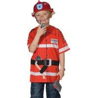 Spieleshirt Feuerwehr mit vielen Details zur Motto- u. Faschingsparty