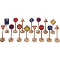 edumero Verkehrszeichen aus Holz