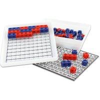 Dick-System Steckwürfel-Multibox mit 100 Stück (rot/blau) Ausführung mit 100 Stück rot/blau