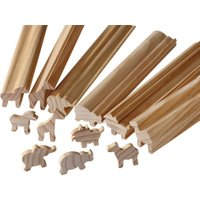 Eduplay Holzstangen zum Selbstabsägen Ausführung Wilde Tiere