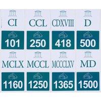 edumero Römische Zahlen kennenlernen Ausführung Set 3