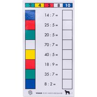 edumero Cube Control Einmaleins - Aufgabenkarten Ausführung 2er/5er/10er Einmaleins