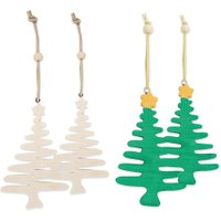 edumero Weihnachtsbäume Anhänger