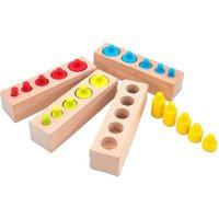 edumero Montessori Steckspiel Zylinder