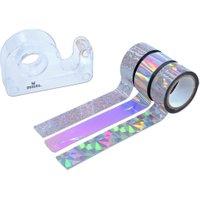 Moses Metallic-Tapes silber mit Abroller