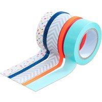 Folia Washi Tape aus 5 Rollen - Konfetti