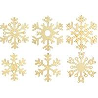 edumero Schneeflocken aus Holz