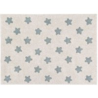 Lorena Canals Teppich Stars Natural-Vintage Blue