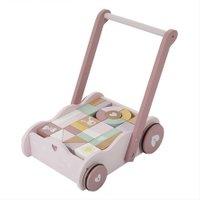Little Dutch Lauflernwagen mit Bauklötzen Adventure Pink