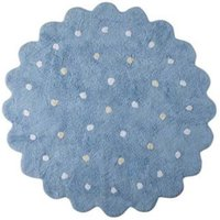 Lorena Canals Waschbarer Teppich Little Biscuit Blau
