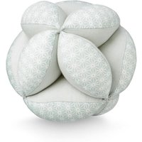 CamCam Spielzeug Ball Sashiko mit Rassel aus Bio-Baumwolle (15 cm) in mint