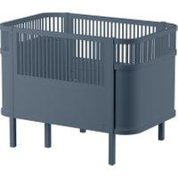Sebra Babybett & Kinderbett mitwachsend & höhenverstellbar (ab Geburt bis 6 Jahre) in blau-grau