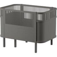 Sebra Babybett & Kinderbett mitwachsend & höhenverstellbar (ab Geburt bis 6 Jahre) in grau