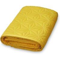 CamCam Baby-Spieldecke & Krabbeldecke abgesteppt aus Bio-Baumwolle (140x200 cm) in gelb